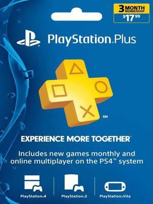 PSN PLUS USA 3 MESES