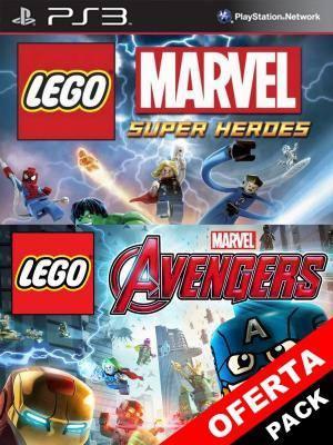 2 juegos en 1 LEGO MARVELS AVENGERS + LEGO MARVEL SUPER HEROES PS3