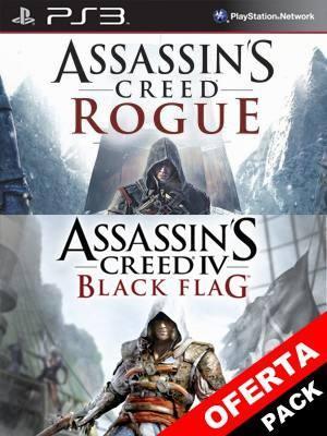 ASSASSINS CREED ROGUE + ASSASSINS CREED 4 BLACK FLAG