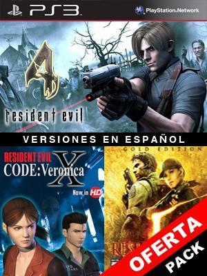 3 juegos en 1 Resident Evil 4 Mas RESIDENT EVIL CODE: Veronica X Mas RESIDENT EVIL 5 GOLD EDITION