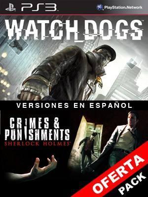 2 juegos en 1 Watch Dogs Mas Sherlock Holmes Crimes and Punishments