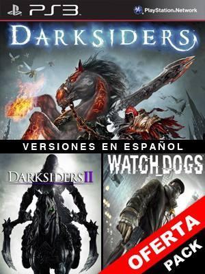 3 juegos en 1 Darksiders Mas Darksiders II Mas Watch Dogs