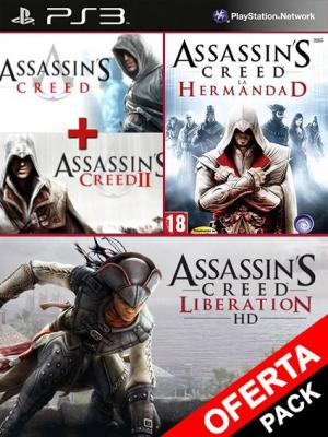 4 juegos en 1 Assassins Creed Double Edition Mas Antología Assassins Creed La Hermandad Mas Assassins Creed Liberation HD