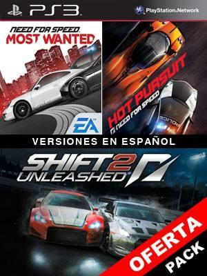 3 juegos en 1 SHIFT 2 UNLEASHED Mas Need for Speed Most Wanted Mas Need for Speed Hot Pursuit