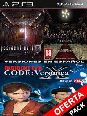 3 juegos en 1 Resident Evil 0 HD Mas Resident Evil HD Mas RESIDENT EVIL CODE Veronica X
