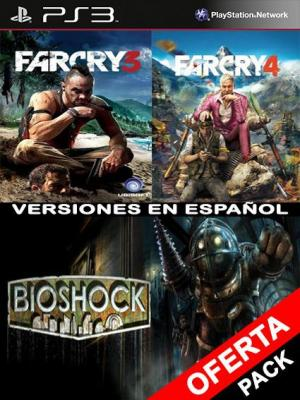 3 juegos en 1 FAR CRY 3 Mas FAR CRY 4 Mas BioShock PS3
