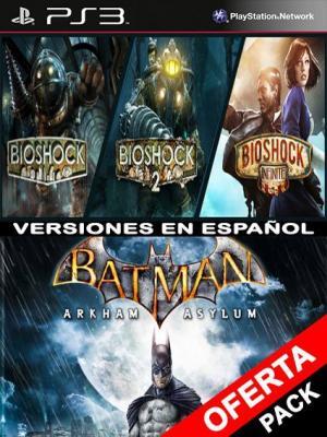 BIOSHOCK TRILOGY PACK Mas Batman Arkham Asylum PS3