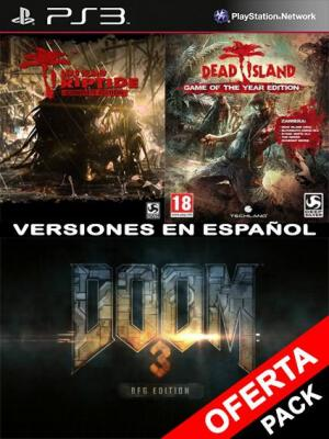 DOOM 3 BFG Edition Mas Riptide Complete Edition Mas Dead Island Game of the Year Edition Bundle PS3