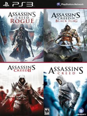 4 juegos en 1 Assassins Creed Mas Assassins Creed 2 Mas Assassins Creed Rogue Mas Assassins Creed Black Flag PS3