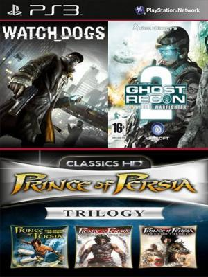 Watch Dogs Mas Tom Clancys G.R.A.W 2 Mas Prince of Persia Trilogy HD PS3