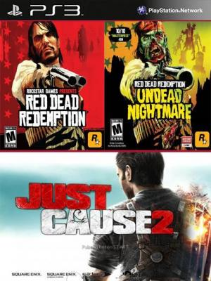 Red Dead Redemption Mas RDR Pesadilla de No Muertos Mas Just Cause 2 Ultimate Edition PS3