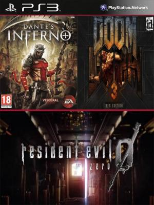 Resident Evil 0 Mas Dantes Inferno Super Bundle Mas DOOM 3 BFG Edition PS3
