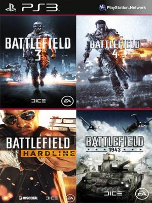4 JUEGOS EN 1 Battlefield 3 Mas Battlefield 4 Mas Battlefield Hardline Mas  Battlefield 1943 PS3