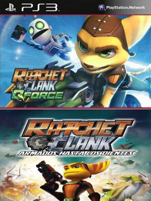 2 Juegos en 1 Ratchet & Clank QForce Mas Ratchet & Clank Armados hasta los dientes PS3