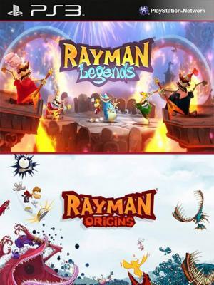 2 juegos en 1 Rayman Legends Mas Rayman Origins PS3