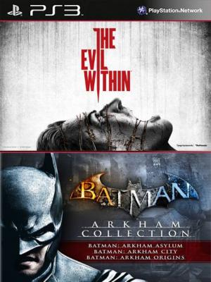 4 juegos en 1 Batman Arkham Collection Mas The Evil Within PS3