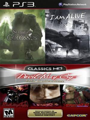 5 juegos en 1 Shadow of the Colossus Mas Devil May Cry HD Collection Mas I Am Alive PS3