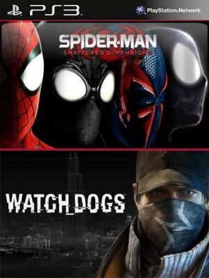 2 juegos en 1 Watch Dogs Mas Spider Man Shattered Dimensions PS3