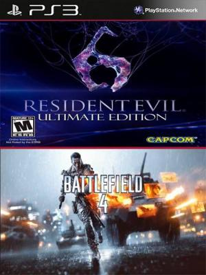 2 juegos en 1 Resident Evil 6 ultimate Mas Battlefield 4 PS3