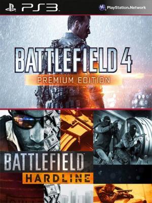 2 juegos en 1 Battlefield Hardline Mas Battlefield 4 Edición Premium PS3