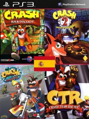 4 JUEGOS EN 1 EN ESPAÑOL Crash Bandicoot Mas Crash Bandicoot 2 Cortex Strikes Back Mas Crash Bandicoot 3 Warped Mas CTR Crash Team Racing PS3