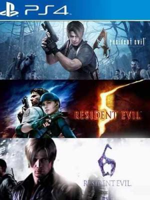 3 Juegos en 1 Resident Evil Triple Pack 4,5,6 PS4