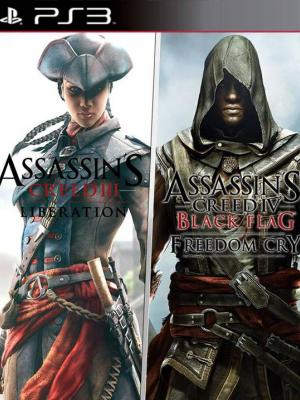 2 juegos en 1 Assassin's Creed Liberation HD and Freedom Cry Bundle PS3