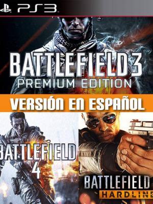 3 juegos 1 Battlefield 4 + Battlefield Hardline + Battlefield 3 Premium Edition PS3