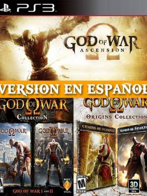 5 JUEGOS EN 1 GOD OF WAR ASCENSION + GOD OF WAR COLLECTION + ORIGINS COLLECYTION PS3 en Español