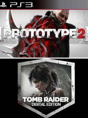 2 juegos en 1 Prototype 2 Gold Edition Mas Tomb Raider Edición digital PS3