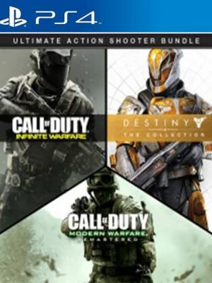 3 JUEGOS EN 1 Call of Duty: Infinite Warfare + Call of Duty: Modern Warfare Remastered + Destiny - The Collection PS4 PRIMARIA FULL ESPAÑOL