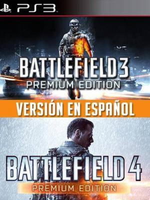 2 JUEGOS EN 1 BATTLEFIELD 3 PREMIUM EDITION MAS BATTLEFIELD 4 PREMIUM EDITION FULL ESPAÑOL PS3
