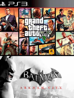 2 juegos en 1 Grand Theft Auto V Mas Batman Arkham City