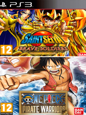 2 juegos en 1 Saint Seiya Brave Soldiers Mas One Piece Pirate Warriors Ps3