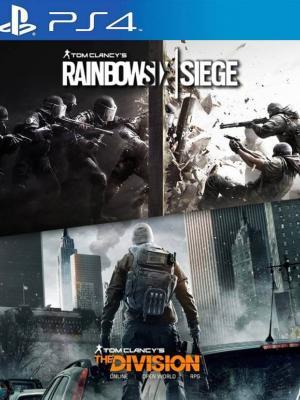 2 juegos en 1  TOM CLANCY'S RAINBOW SIX SIEGE + THE DIVISION PS4 PRIMARIA
