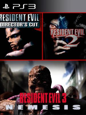 3 JUEGOS EN 1 RESIDENT EVIL DIRECTOR CUT + RESIDENT EVIL 2 + RESIDENT EVIL 3 NEMESIS PS3