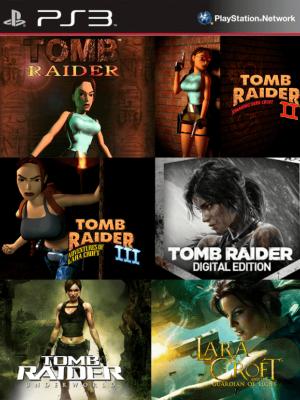 6 juegos en 1 Tomb Raider Digital Edition Mas Lara Croft and the Guardian of Light Mas Tomb Raider Underworld Mas Tomb Raider 1 Mas Tomb Raider 2 Mas Tomb Raider 3 PS3