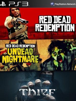 2 juegos en 1 mas Dlc Red Dead Redemption mas Colección Pesadilla de los No Muertos mas Thief