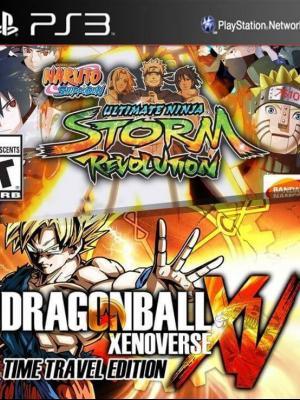 2 juegos en 1 Dragon Ball Xenoverse: edición Time Travel Pase de temporada mas NARUTO SHIPPUDEN: Ultimate Ninja STORM Revolution ps3