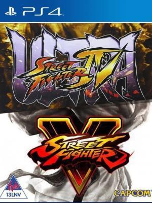 2 JUEGOS EN 1 STREET FIGHTER V MAS ULTRA STREET FIGHTER IV PS4 PRIMARIA