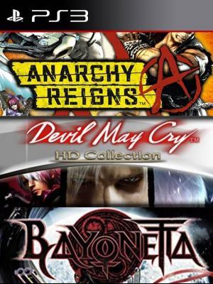 3 juegos en 1 Bayonetta mas Devil May Cry HD Collection mas Anarchy Reigns Ps3