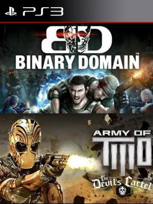 2 juegos en 1 Binary Domain mas Army of TWO The Devil's en Español Ps3