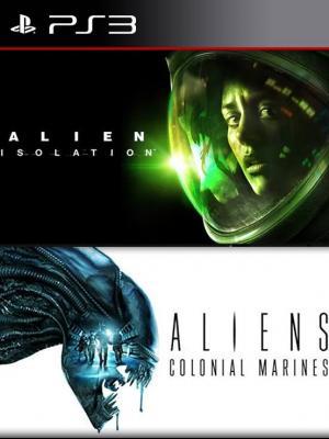 2 juegos en 1 Alien: Isolation mas Aliens: Colonial Marines ps3