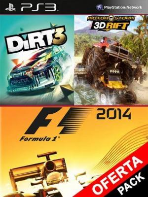 3 juegos en F1 2014 Mas DiRT3 Mas MotorStorm 3D Rift
