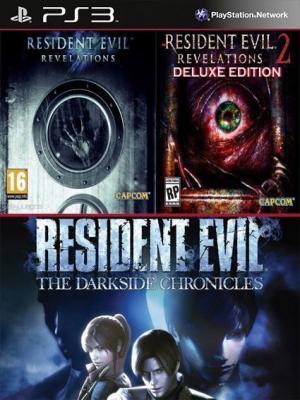 3 juegos en 1 Resident Evil Revelations Mas Resident Evil Revelations 2 Deluxe Edition Mas Resident Evil The Darkside Chronicles PS3